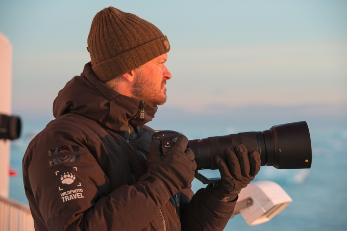 Author in the field on Svalbard - photo Frede Lamo